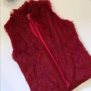 Betsey Johnson Faux Fur Vest.